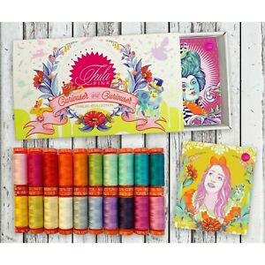 Aurifil Tula Pink Curiouser & Curiouser Thread Collection 20 220yd spools of 50W