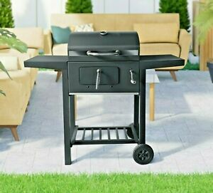 Charcoal Barbecue BBQ Grill Smoker Outdoor Portable in Garden 109 x 45 x 96