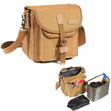 Waterproof Canvas DSLR Camera Bag Case For Nikon Sony Canon Fuji Pentax Olympus