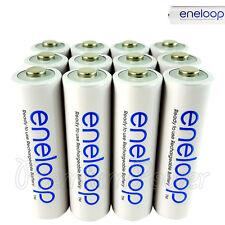 12 x Panasonic Eneloop AA batteries 1900mAh Rechargeable Ni-MH BK-3MCCE LR06