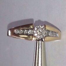 KEEPSAKE  14K SOLID YELLOW GOLD & Round GENUINE DIAMOND ENGAGEMNET RING SIZE 6.5