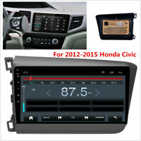 For 12-15 Civic  9'' Android 9.1 4-Core Car Stereo Radio GPS WIFI 4G With Canbus