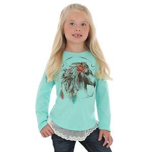 Wrangler Girls Feather Horse Print top