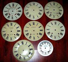 Lot 8 Cadrans oeil de boeuf horloge zifferblatt clock uhr dial Comtoise