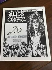 Alice Cooper - Raise Your Fist and Yell  - satin backstage pass after show only