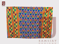 Handwoven Kente Cloth Ghana Fabric Asante African Woven Textiles Art 6 yards