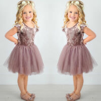 Baby Kid Girls Princess Dress Party Pageant Wedding Bridesmaid Lace Tutu Dresses