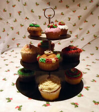 Cup Cake stand - vinyl records  3 tier PICK N MIX centres Party Birthday