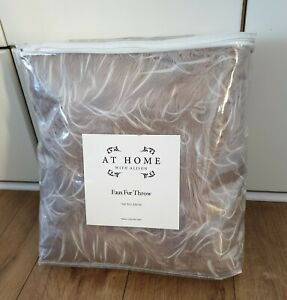 (C45) Alison Cork Luxury Tipped Faux Fur Throw 150x200cms Mink NEW King Size