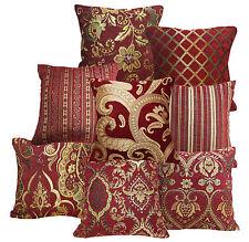 Damask Checker Stripe Flower Match Color Cotton Blend Cushion Cover/Pillow Case