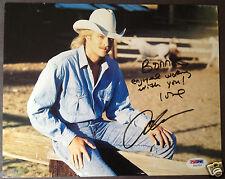ALAN JACKSON Rare Signed Photo To Bonnie Owens PSA/DNA Auto Certified Autograph