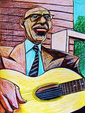 FURRY LEWIS PRINT poster country blues kay guitar memphis heroes of the blues cd