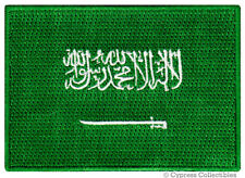 SAUDI ARABIA FLAG embroidered iron-on PATCH ARABIAN MUSLIM MECCA MEDINA ARAB new