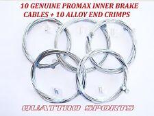 10 MTB INNER BRAKE CABLES + ALLOY CRIMPS, MTB, SHIMANO ETC.