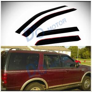 For 97-17 Expedition/Navigator 4pcs Smoke Sun/Rain Guard Vent Shade Window Visor