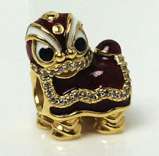 Authentic Genuine Pandora Silver Chinese Lion Dance Charm - 792043CZ