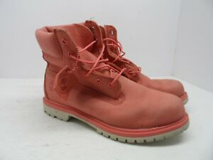Timberland Women's 6-Inch Premium Waterproof Boot A1AQK Pink Size 10M