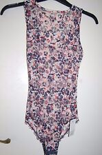 M&S Bralet Body 1 Piece Isabella Lace High Front Navy Mix Size UK 12 BNWT