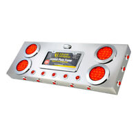 red/red lens STAINLESS STEEL REAR CENTER LIGHT PANEL W/DUAL FUNCTION LEDS 91302
