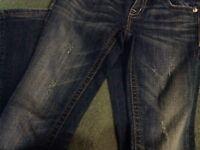 MissME Miss Me JW536732 boot ladies sz 25 destroyed jeans
