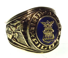 Private Pilot Ring   - Blue Stone with Shield emblem made in USA