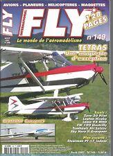 FLY N°149 PLAN : STEARMAN PT 17 INDOOR / TETRAS / DIAMANT GRAUPNER / LAMA V4
