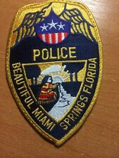 PATCH POLICE BEAUTIFUL MIAMI SPRINGS - FL FLA FLORIDA