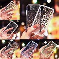 Clear Diamond Grain Shockproof TPU Soft Phone Shell For iPhone 6 6S 7 8 Plus X