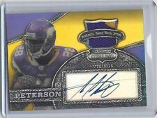 ADRIAN PETERSON 2008 BOWMAN STERLING GOLD REFRACTOR 3 COLOR PATCH AUTO #D 14/20