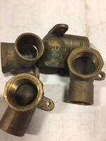 """(1) NIBCO 3/4"""" C x FIP Copper 90 degree Drop Ear Elbow Brass"""