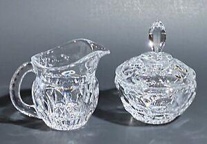 Vintage Colony Glass - Celeste - SUGAR BOWL w/ LID & CREAMER - Circles -Perfect