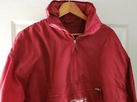 American Eagle Outfitters Mens Red Windbreaker Hooded large L vintage
