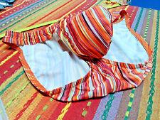 N2N Men's Striped Swimsuit Bikini Nylon/Spandex - Famous Unlined N2N Pouch Sz:32
