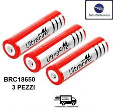 3 Batería Brc 3,7V 4,2V Ultra Fire Originales Baterías Recargable Litio No Aguja