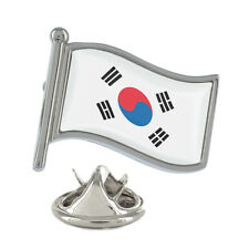 South Korea Wavy Flag Pin Badge Seoul Korean Busan Jeju City New & Exclusive