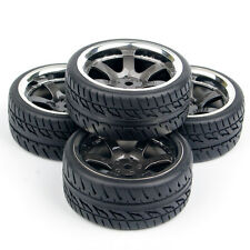 4x12mm Hex Rubber RC Drift Tires Wheel Rim For HPI 1:10 Rally Racing On Road Car