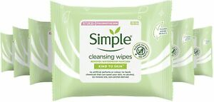 Simple Kind to Skin Cleansing Facial Wipes for sensitive skin - 6 x 25PCS
