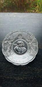 Antique Victorian Glass Dish Military Interest Dated Wilhelm Ferdinand 1914