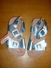 Sandalias de cuero azul metálico por Miss Sixty Talla 27 US10 UK9 BNWT