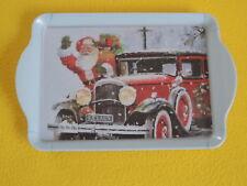 Ambiente 1x Tablett Weihnachtsmann AUTO Weihnachten Melamin 15 x 23 tray SANTA