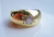 Stunning Antique Edwardian 18ct Gold Gypsy set Diamond Ring c1910; UK Size 'N'