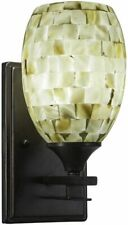 Toltec Lighting Uptowne 1 Light Wall Sconce Ivory Glaze Seashell Glass
