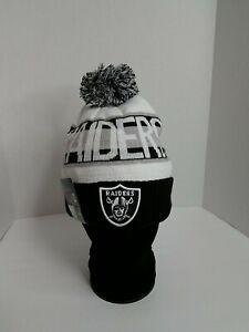 NFL Las Vegas Raiders New Era On Field Beanie knit Cap Pom Winter New