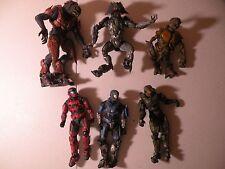 Halo Action Figure Lot Grunt Minor Blue Red Green Spartan Skirmisher MCFARLANE