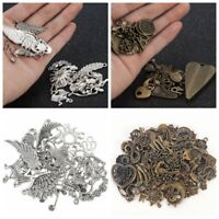 50g/Pack Vintage Mixed Charms Pendants Bronze Silver Jewelry Making DIY Craft aa