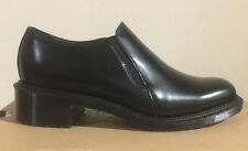 DR. MARTENS ROSYNA BLACK WAX POLISHED SMOOTH  LEATHER  SHOES SIZE UK 8