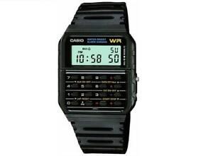 NEW CASIO RETRO MENS DIGITAL BLACK CALCULATOR CLASSIC WATCH CA53W-1ER RRP £69
