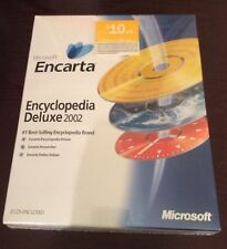 Nwt (unopened in original pkg) Microsoft Encarta Encyclopedia Deluxe 2002 3 Cds