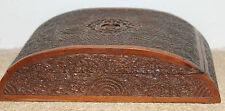 une main vintage indien anglo boite en bois sculpté de santal cigarette box