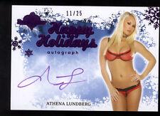 Benchwarmer Holidays Autograph Card (2012) #11/25 Athena Lundberg Purple Ink NM